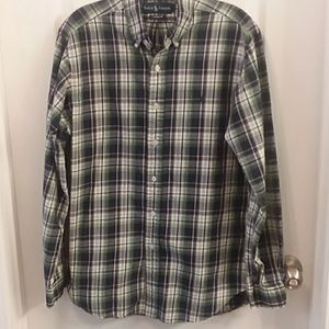 Ralph Lauren Polo Mens Plaid Button Shirt M